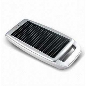 China 1000mAh Portable Solar Power Battery Pack for Cell Phones-Silver on sale