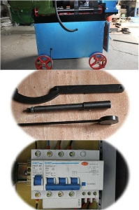 China Fast Speed Rebar Die Head Threading Machine For Construction 3 Phase on sale