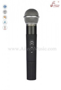 China Professional FM Handheld UHF Fixed Dual Channel Wireless Microphone (AL-SE2018) on sale