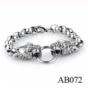 China AB072 Best Quality Stainless Steel Dragon Head Bracelet Design on sale