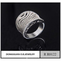 Imitation White Gold Ring Men Jewelry Finger Ring Diamond Ring For Men