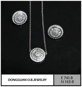 China E741-B And N143-B Diamond Jewelry Set on sale