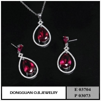 China E3704 And P3073 18K Gold Jewelry Set on sale
