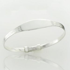 China Classic Jewellery L1347 Plain Baby Bangle on sale