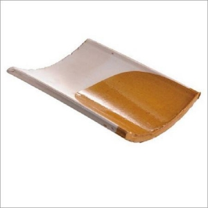 China Glazed Roof Tiles Glazed Barrel Clay Roof Tiles on sale