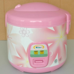 China Delicate Pink Rice Cooker with Non-stick pan on sale