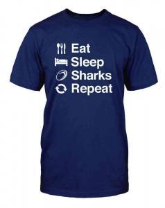 China Eat Sleep Sharks Repeat ALL T-SHIRTS on sale