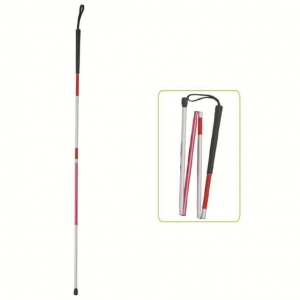 China folding walking canes for the blind #JL936L  Lightweight Folding Blind Cane With Wrist Strap on sale