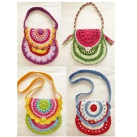 Hand crochet multi-items clolorful handbags