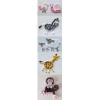 Hand crochet animals accessories
