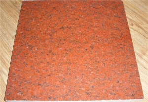 China Dyed Red Granite Stone Painted Flooring Tile Stone Exterior and Indoor Tile on sale