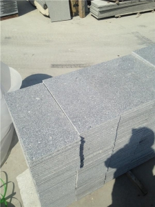 China China Shandong Taocun Grey Granite G341 Flamed Granite Tile on sale