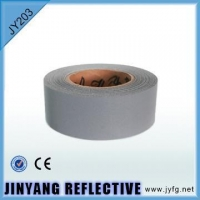China 100% Nylon Polyester Reflective Fabric Tape For Uniform on sale