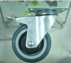 China 5 Inch Polyurethane Rigid Caster Wheel on sale