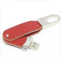 HS-1311 Swivel Leather USB Flash Drive