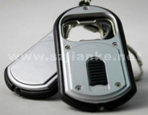 China Bottle Opener Flashlight LED Key Ring with Logo Print (4061) on sale