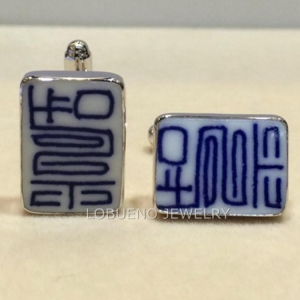 China 925 STERLING SILVER MEN'S CUFF LINKS on sale