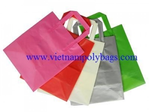 China Trifold Plastic Handle Bags on sale