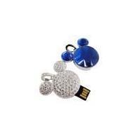 China Blue Diamond USB flash drive, Jewelry USB flash disk, popular top class USB gift on sale