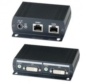 China Products 1 input 2 output DVI & Audio CAT5 Extender on sale