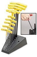 China Bondhus 13190 T-Handle Ball End Hex Tool Set, 3/32-3/8, 10-Pc on sale