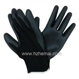 China HNN449 Foam Nitrile palm coated glove on sale