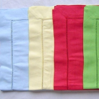 Christmas Pure Linen Napkin in Dyed Colors Hand Hemstitch Table Cloth NL-023
