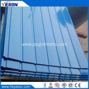 China 900MM Corrugated galvanized metal Roofing Sheets on sale