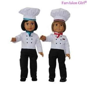 China Fashion Doll Dress in Chef Uniforms Clothing Let your love dolls Can Be Chef Baker Career on sale