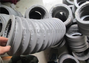 China Grey Fabric Expansion Joint Bellows , Flexible Expansion Joint Material on sale