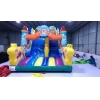 China Amusing Race Car Inflatable Slide For Theme Park for sale