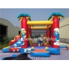 China Hot Selling Yellow Small Inflatable Bouncer With Slide For Children for sale