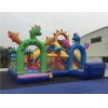 China Rainbow New Design Cute PVC Material Car Race Inflatable Funcity For Outdoor Playground RB4115 for sale