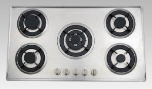 China Pulse Ignition Gas Burner with S.S Brushed Panel Multi-burners Gas Stove on sale