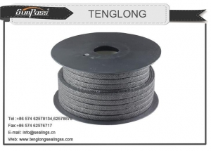 China Pure Flexible Graphite Packing Impregnated With PTFE on sale