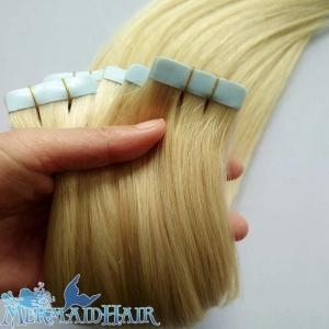 China Pu hair extension/tape hair weft on sale