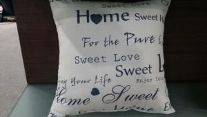 China TC Cushions with sweethome printed on sale