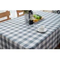Checks color weaving polyester table cloth