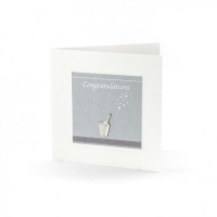 Congratulations ~ Champagne and bubbles keepsake card!