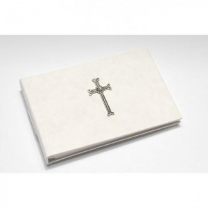 China Cross design white photo album on sale