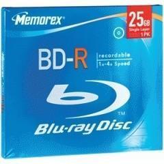 China Memorex Blu-Ray Disc 4x speed 25GB BD-R 1 disc 034707978508 on sale
