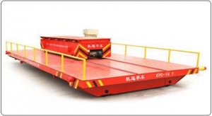 China Hydraulic dumping system motorized rail ferry car on sale