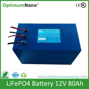 China 12V 80Ah Renewable Energy Solar LiFePo4 Batteries on sale