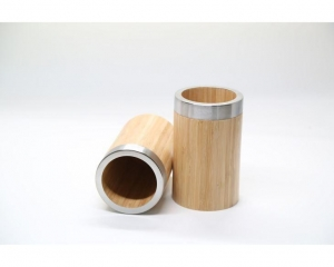 China Bamboo Utensils Holder For Kitchen, Pen Pencil Cup Holder, Makeup Brush Holder on sale