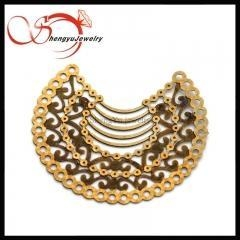 China moon shape copper jewelry accessories for jewelry on sale