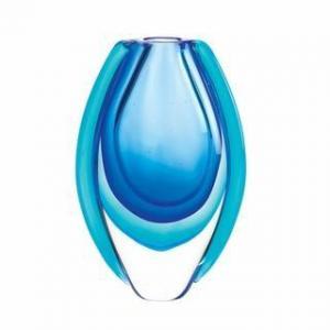 China Azure Blue Art Glass Vase on sale