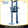 China Vertical chain guided Lift Large capacity 5m chain type hydraulic cargo lift price for sale