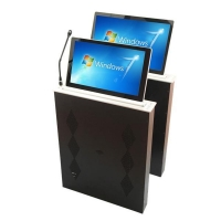 18.5 Inch Ultrathin LCD Monitor Motorized Lifting Mechanism with Touch Screen and Remote Control