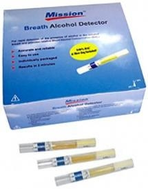 China Mission Breath Alcohol Breathalyzer .02 Tubes 25/BX on sale