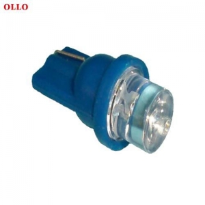 China New generation auto interior lights blue led indicator bulbs T8 wedge on sale